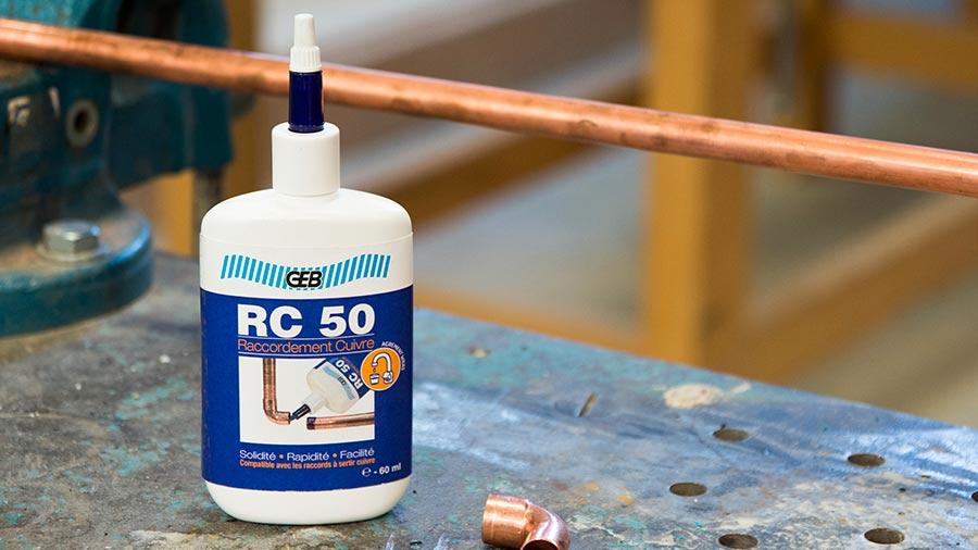 RC 50 de GEV pour raccorder des canalisations cuivre et laiton sans soudures