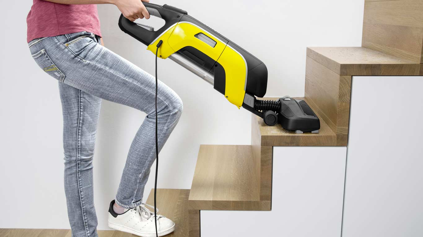 k rcher lance un aspirateur compact sans sac vc 5 zone outillage. Black Bedroom Furniture Sets. Home Design Ideas